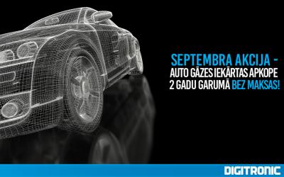 Septembra akcija – auto gāzes iekārtas apkope 2 gadu garumā BEZ MAKSAS!